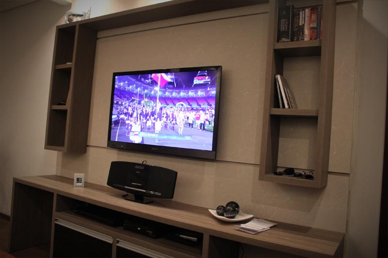 Nichos Na Sala De Tv ~ Painel de TV e Rack  Moveis Sob Medida Curitiba  Marceneiro Curitiba